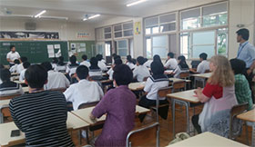 Class observation in Takahashi Jr. High School in Toyota