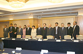With Kyushu business community