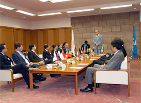 Courtesy call to Ishikawa Prefecture Governor Masanori Tanimoto