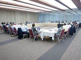 Meeting at the Nippon Keidanren
