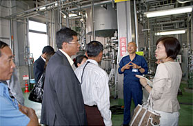 At the Kyoto municipal facility for converting kitchen waste into fuel