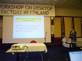 Presentation by Japanese participants at the Workshop