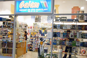 Turkmenistan—Galam, a store filled with Russian books and stationery products