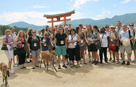 Visit to Itsukushima Shrine on Miyajima island (7/1)