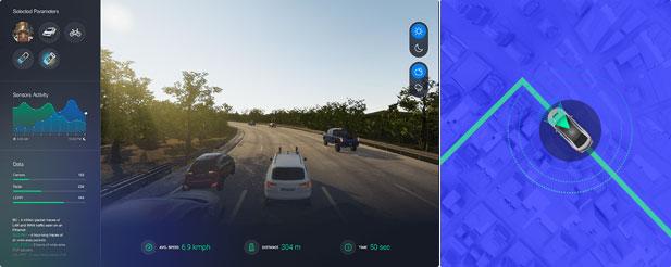 コグナタ社の自動運転シミュレーション画像
