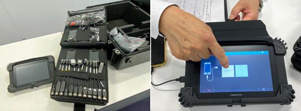 犯罪捜査機関向けのモバイルデータトランスファー機器「Cellebrite UFED Touch2」